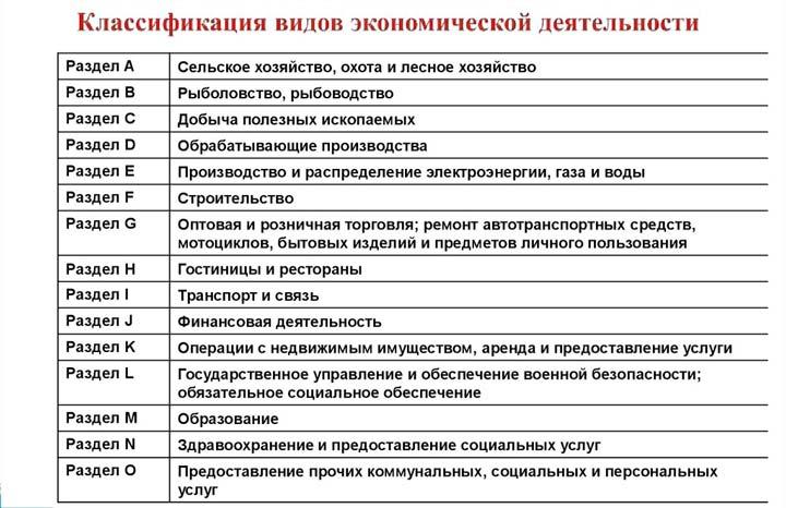 Всероссийский классификатор видов экономической деятельности