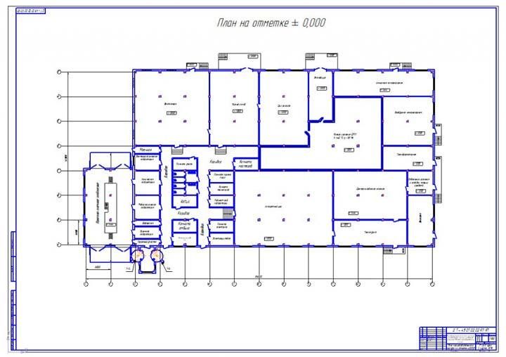 План помещения под производство
