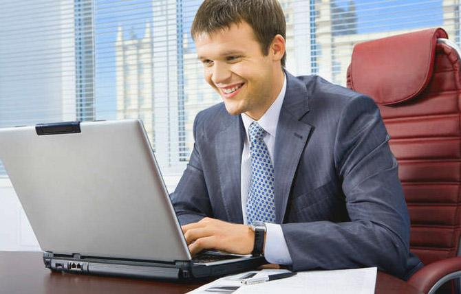 Предприниматель в офисе