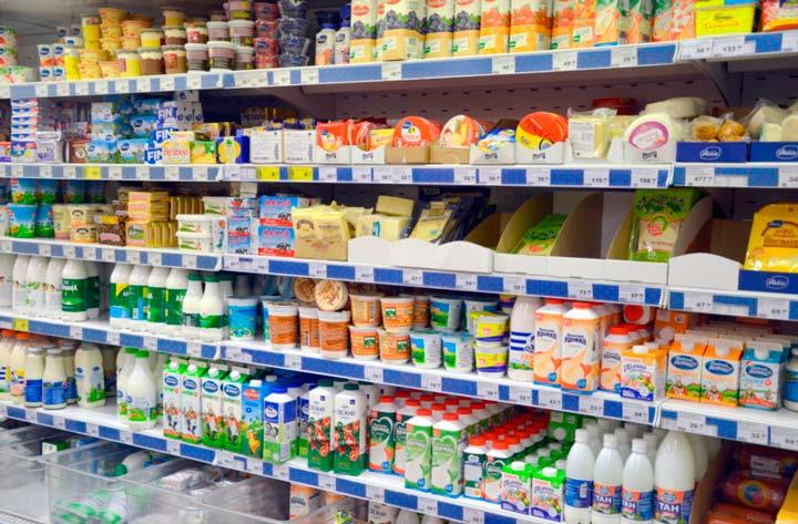 Большой выбор молочной продукции