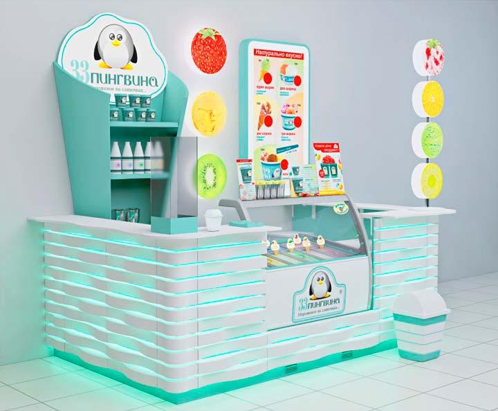 """Франшиза мягкого мороженого """"33 Пингвина"""""""