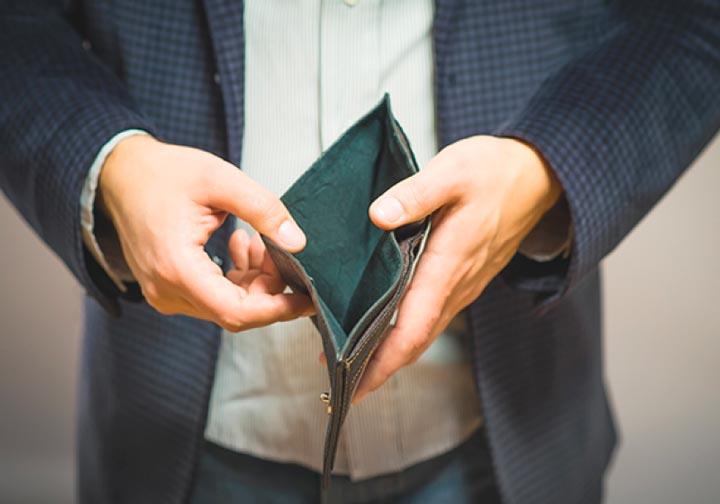 Отсутствие средств по выплате обязательств у ип