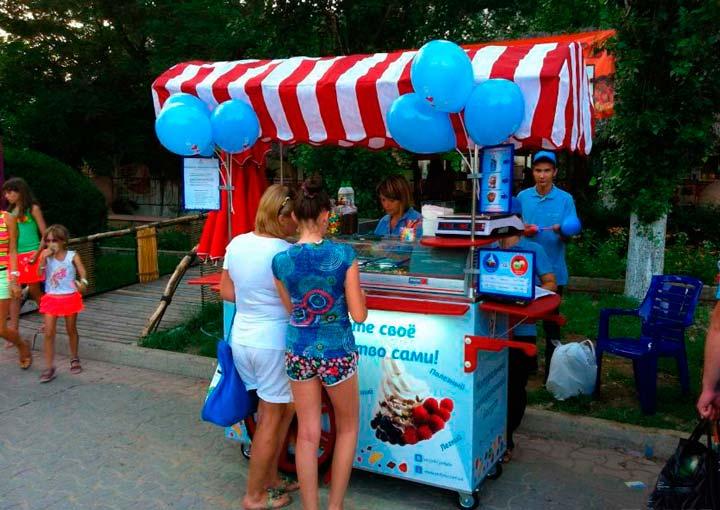 Точка продажи мягкого мороженого