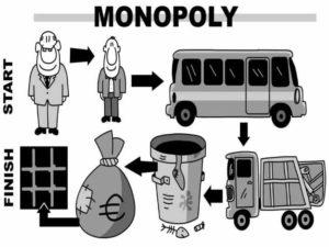 Установление на монополии государственной собственности.